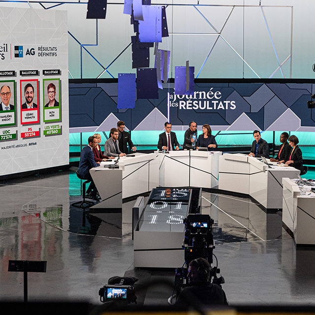 Retour en images sur les coulisses de l'opération mise en place par la RTS pour les élections fédérales 2019