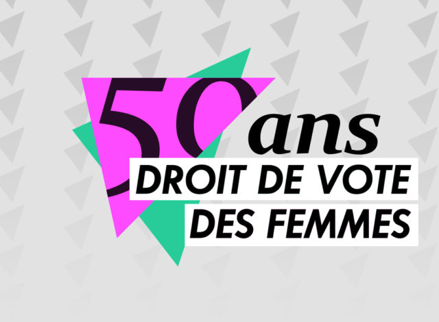 50e anniversaire du suffrage féminin: projection d'images d'archives et discussion