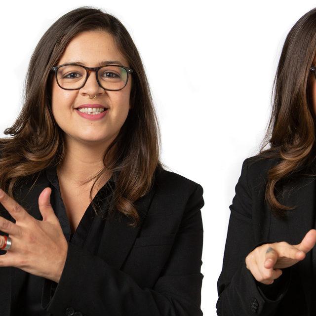 Sofia Adelino est la nouvelle présentatrice de «Signes», émission destinée aux personnes sourdes et malentendantes